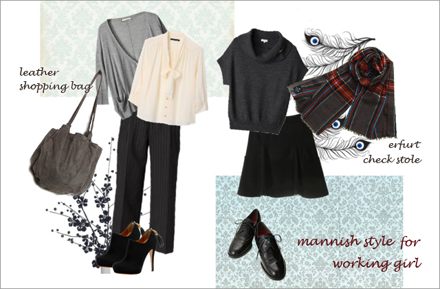 mannish style for working girl