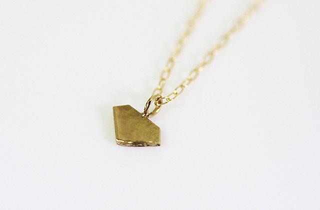 sinc(シンク) k18ゴールドプチネックレス/ダイヤ