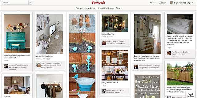 Pinterest(ピンタレスト)のHome Decorカテゴリー