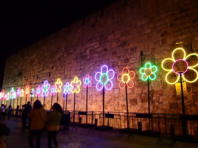 イスラエルの夜:ライトアップ