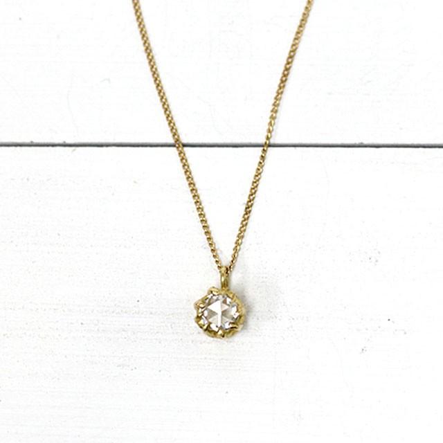 k18 hn-405 8つ爪ローズカット ダイヤ ネックレス