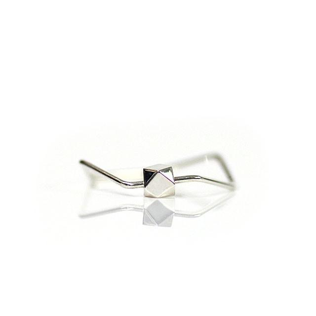 siki(シキ)SK-R25-SV 七角形とカケラのリング/シルバー