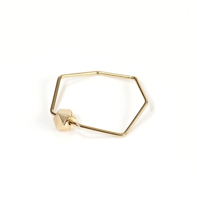 siki(シキ)SK-R25-K18 七角形とカケラのリング/ゴールド