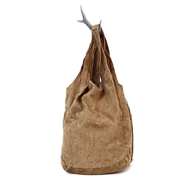 SEASIDE FREERIDEレザーショッピングバッグ SP BAG / スウェード ベージュ