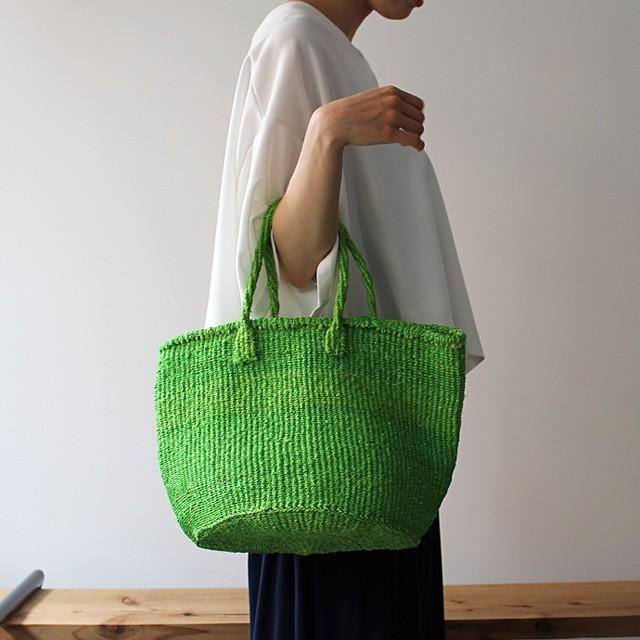 サイザル カゴバッグS/ライトグリーン(濃) かごバッグ