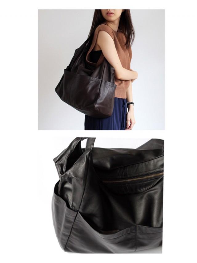 SEASIDE FREERIDEB BAG ジッパー付き フロントポケット レザーバッグ/ 全6色