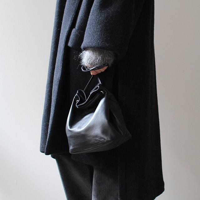 SEASIDE FREERIDE2way 巾着型 シープレザー ミニポシェット NID BAG L / 全3色